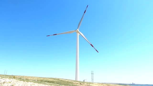 wind turbines in wilderness area - wilderness area stock videos & royalty-free footage