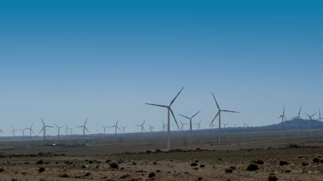 wind turbines in wilderness area - named wilderness area stock videos & royalty-free footage