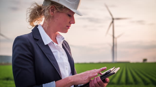 Wind Turbines Inspected by female Engineer/Technician - Women in STEM