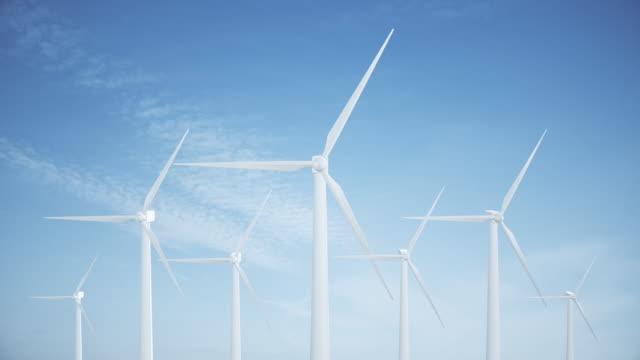 stockvideo's en b-roll-footage met 4k windturbines | loopbare - generation z