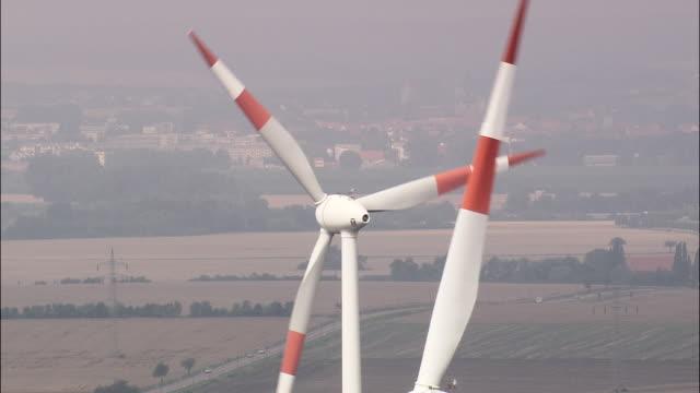 Wind Turbines Near Querfurt