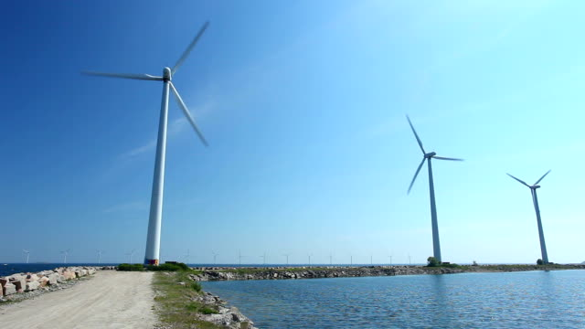 wind turbines / offshore - human settlement stock videos & royalty-free footage