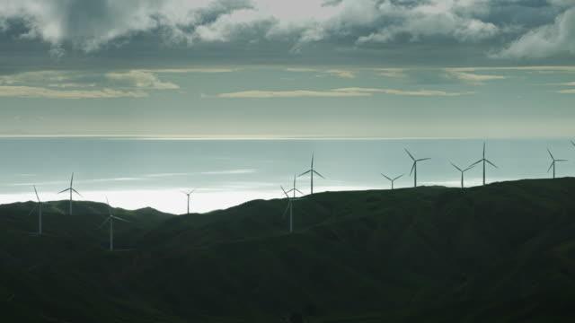 Wind Turbines on Hazy Day
