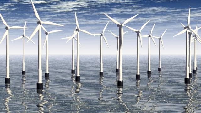 Windturbinen auf dem Meer-Alternative Energien (HD