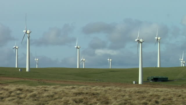 WS,  wind turbines on wind farm,  Powys,  Wales,  England