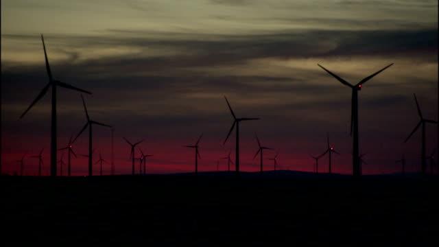 wind turbines operate at the klondike wind farm in oregon. - klondike stock videos and b-roll footage