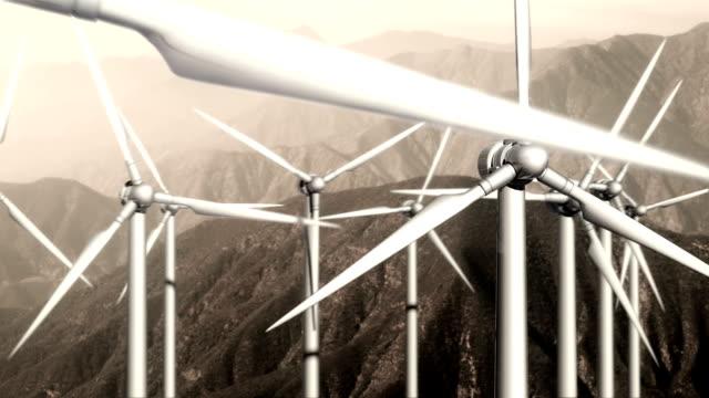 Windturbines: Trage Pass, gebleekte kleuren