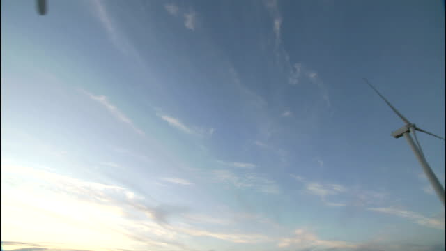 wind turbines spin at the klondike wind farm in oregon. - klondike stock videos and b-roll footage