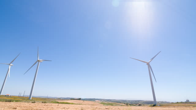 wind turbines turning in the wind - mgost stock videos and b-roll footage