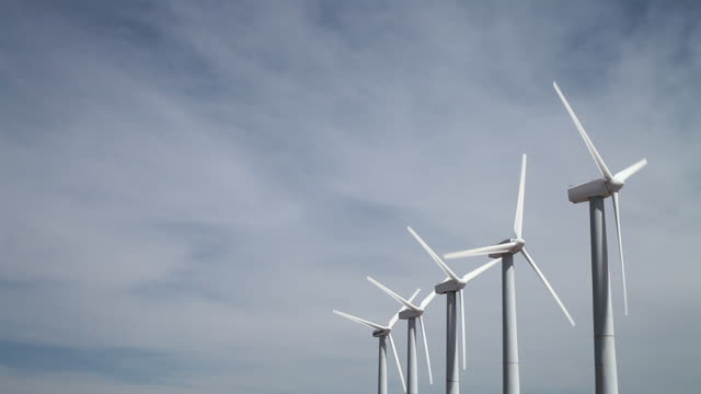 wind turbines - five objects stock videos & royalty-free footage