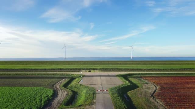 wind turbines - polder stock videos and b-roll footage