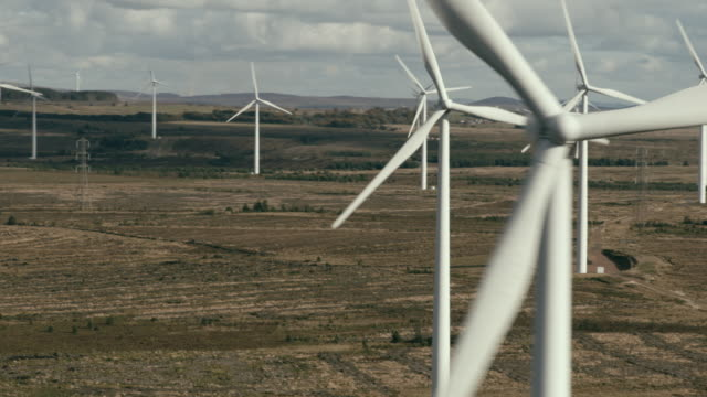wind turbines - horizon over land stock videos & royalty-free footage