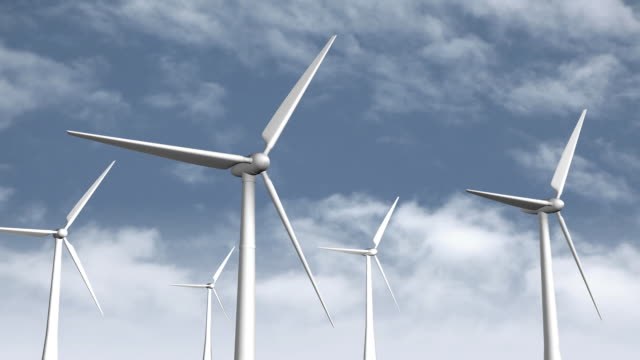 wind turbines - five objects stock videos and b-roll footage