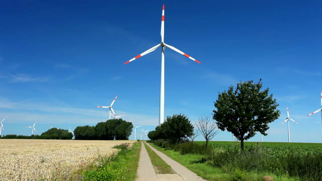 hd: wind turbines - synthpop stock videos & royalty-free footage