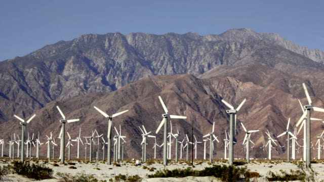 wind turbines - palm springs california stock videos & royalty-free footage