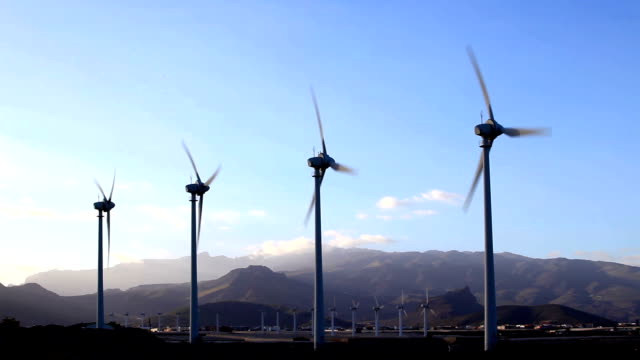 wind turbines - grand canary stock videos and b-roll footage