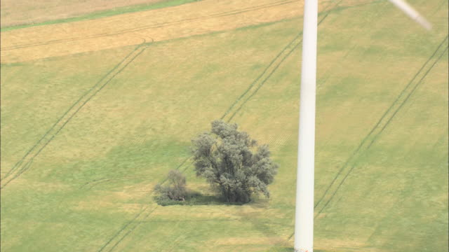wind turbines - turingia video stock e b–roll