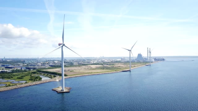 wind turbines - denmark stock videos & royalty-free footage
