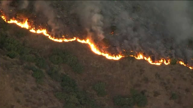KTLA Winddriven flames spread uphill from State Route 241 and the first home caught fire shortly before noon Then additional homes quickly began to...