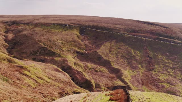winding country lane in lancashire pennines - pennines stock videos & royalty-free footage