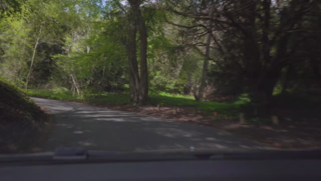 vidéos et rushes de winding country lane - route à une voie
