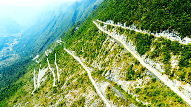 winding road in mountain - steep stock videos & royalty-free footage