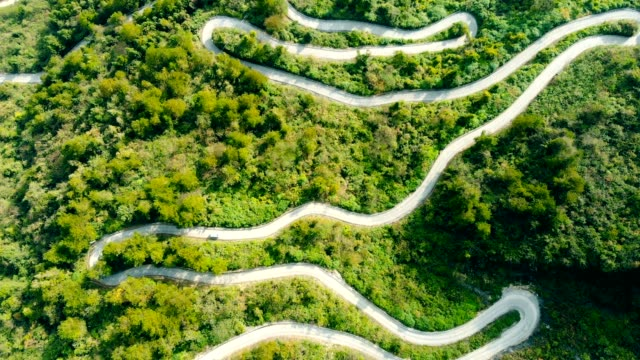 Winding road in mountain