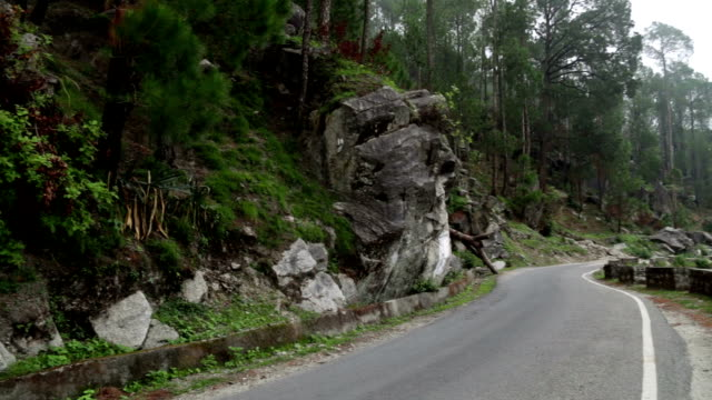 Winding Road in Mountains