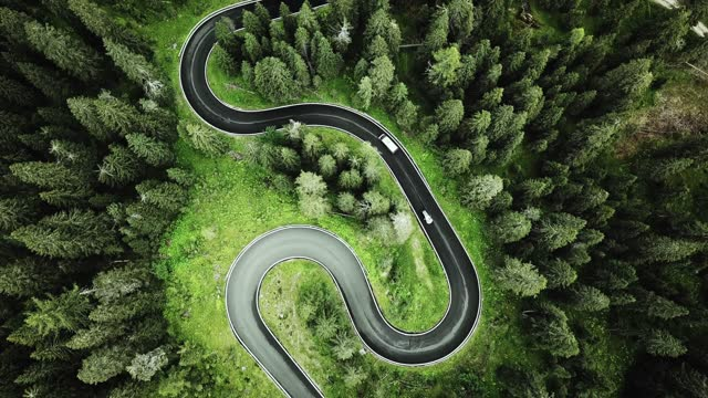 winding road in the dolomites - journey stock videos & royalty-free footage