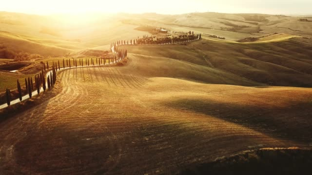 winding road in tuscany - geographical locations stock videos & royalty-free footage
