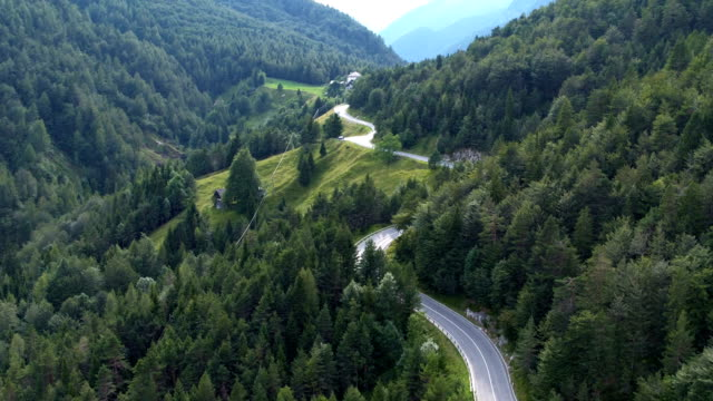 winding road - slovenia stock videos & royalty-free footage
