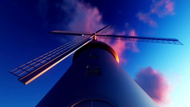 windmill and clouds - netherlands stock videos & royalty-free footage