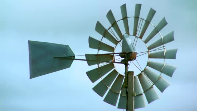 windmill and sky - gale stock videos & royalty-free footage