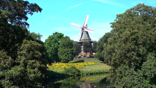 windmill in bremen - mill stock videos & royalty-free footage