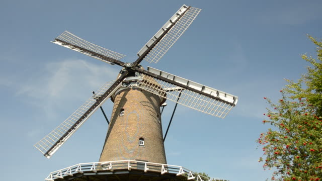 windmill in the netherlands - mill stock videos & royalty-free footage