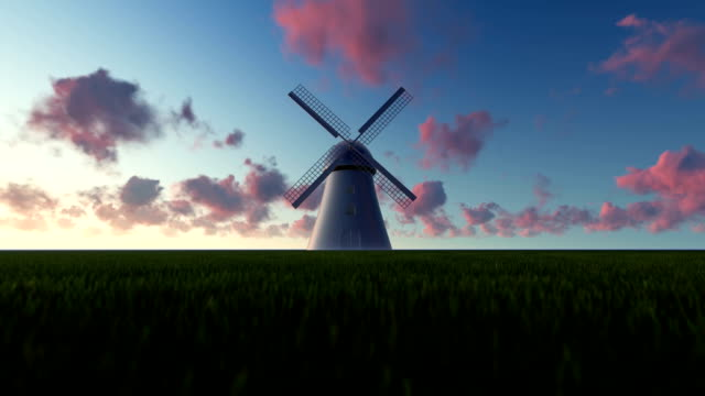 windmill landscape - mill stock videos & royalty-free footage