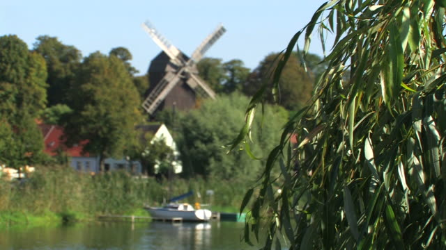 Windmill near the lake in Germany