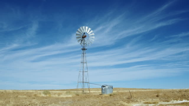 Windmill on plain, Gallup, New Mexico, United States