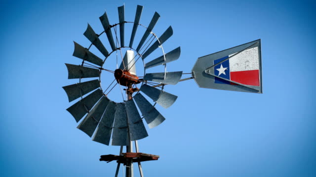 windmill perfect loop - texas stock videos & royalty-free footage