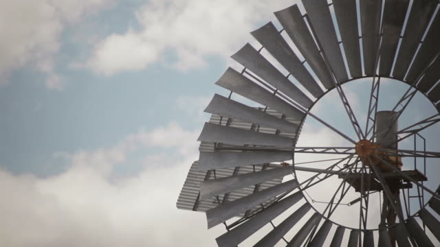 Windmill, sky, clouds, Lubbock, TX, USA