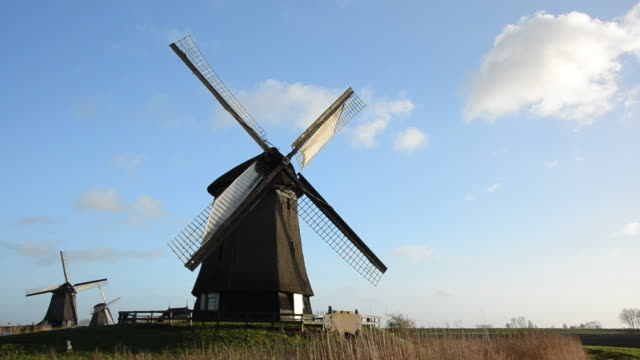 Windmill turning and stopping