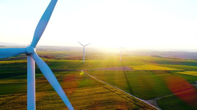 Windmühlen, Sanierung Energie, Ökologie Hintergrund.