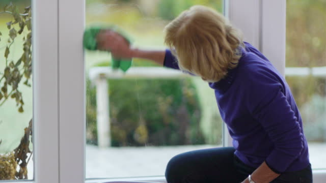 window cleaning - domestic staff stock videos and b-roll footage