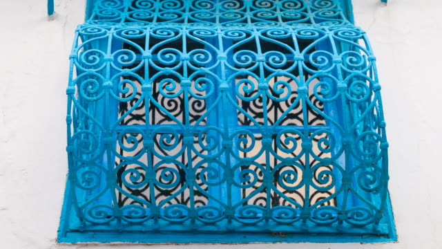 Window in a house in Sidi Bou Said village