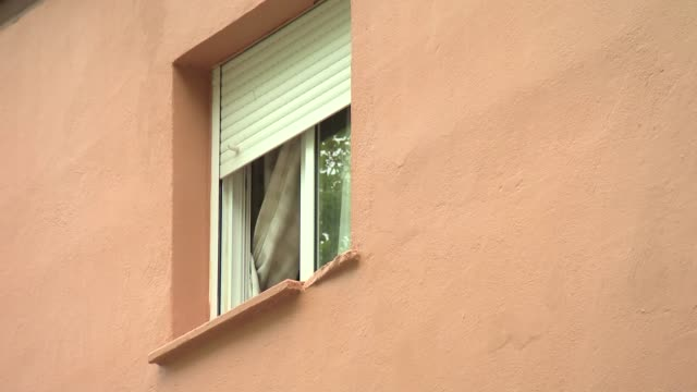 window in apartment block - blinds stock videos & royalty-free footage