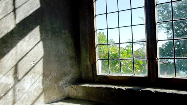 Window in medieval castle