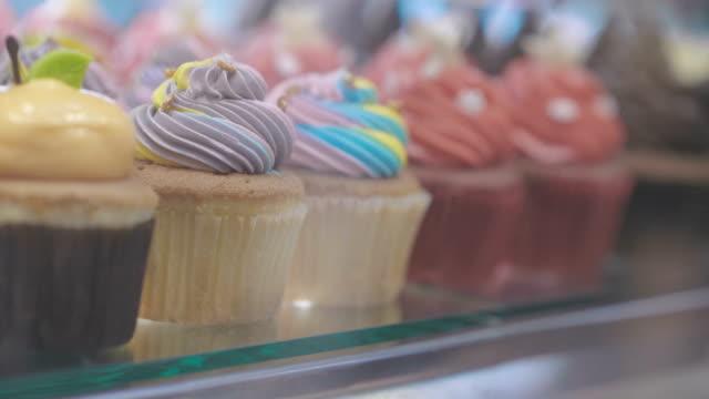 window of a cake shop - gelatin stock videos & royalty-free footage