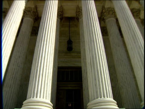 1996 cu window reflecting interior of united states supreme court building below corinthian columns and bas relief / washington, dc, usa - bas relief stock videos & royalty-free footage