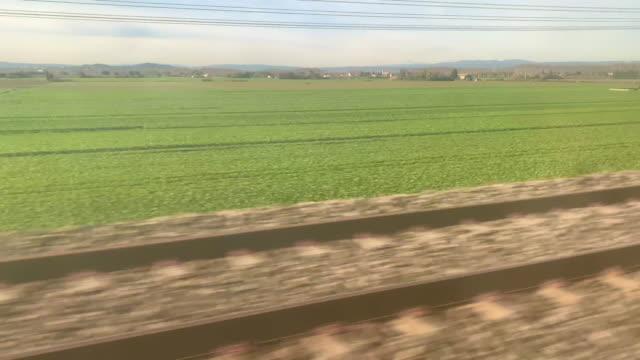 Window View From TGV Speed Train