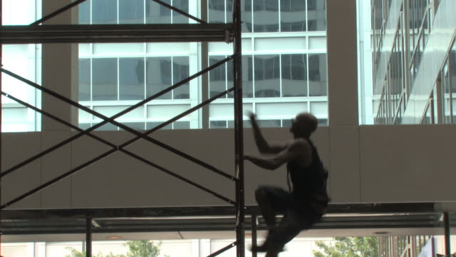 window washer - ladder stock videos and b-roll footage